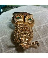 """Vintage Jewelry: 1 1/2"""" Gold Tone Owl Brooch 171101 - $7.99"""