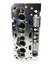 SBC Small Block Chevy GM Angle Plug Aluminum Cylinder Head Set 64cc 2.02/1.60 image 7