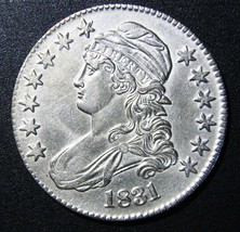 1831 Capped Bust Half Dollar 50¢ Coin Lot# MZ 3104