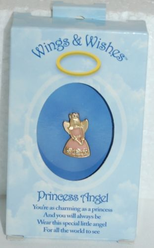 DM Merchandising Wings Wishes Princess Angel Pink Gold Colored Angel