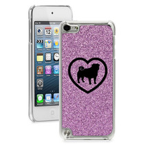 For Apple iPod Touch 4th 5th 6th Glitter Bling Hard Case Cover Pug Heart - $14.99
