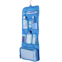 Travel Cosmetic Hanging Case Large Portable Foldable Toiletry Make Up Or... - $8.99