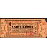 JOE LOUIS vs JOHN LEWIS  Heavyweight Championship Full Ticket Jan 25,193... - $158.40