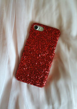 RED SEQUINED iPhone 6/6S iPhone 7/7s PLUS iPhone X Case Hard Cover Lady's iPhone