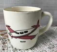 NAVION Vintage AIRPLANE Aviation Aircraft Coffee Mug Tea Cup USA - $29.38