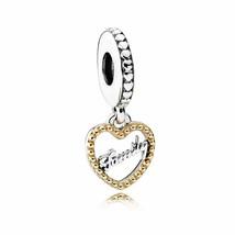 Pandora Engravable Family Script Crafted Pendant Charm 792011 - $71.67