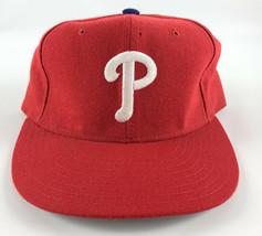 Philadelphia Phillies New Era 5950 Pro Model Baseball Hat Red - 7 1/8 Vintage - $29.69