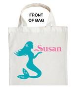 Mermaid Trick or Treat Bag, Personalized Mermaid Halloween Bag, Mermaid ... - $11.99+