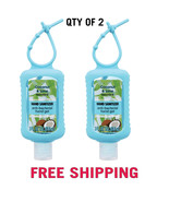 QTY 2 Coconut and Lime Scented Hand Sanitizer Keychain 3 oz Anti-bacterial - £15.84 GBP