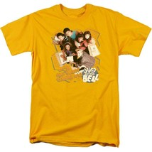 Saved by the Bell Zack, Slater, 80's retro TV series graphic gold tee NBC564 image 1