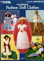 CROCHETED FASHION DOLLS BARBIE DOLL CLOTHES LEISURE ARTS 268 - $4.95