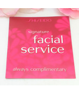 Shiseido Facial Service Gift Certificate Card Redeem at a Local Shiseido... - $17.99