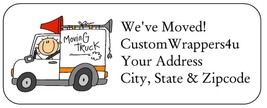 We've Just Moved New Home Return Address Labels Custom Personalized - $4.95