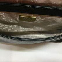 Badgley Mischka Black Leather Gold Stud Crossbody Shoulder Bag Purse image 7