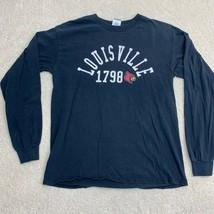 Louisville Cardinals NCAA Long Sleeve T-Shirt Men's Size Medium Black - $28.59