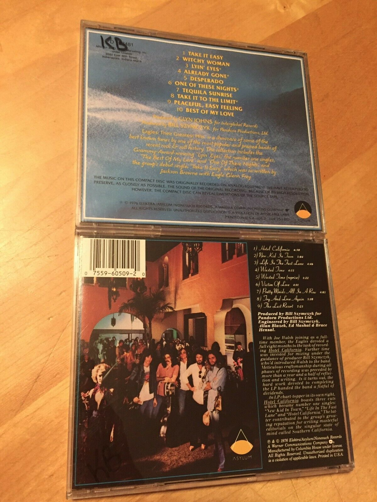the eagles hotel california cd 1976 elektra bonus their greatest hits cd cds. Black Bedroom Furniture Sets. Home Design Ideas