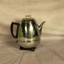 Vintage General Electric Percolator GE 13P30 Pot Belly 8 Cup Chrome Coff... - $38.80