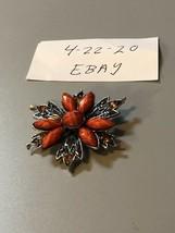 Vintage Orange Brooch - $8.90