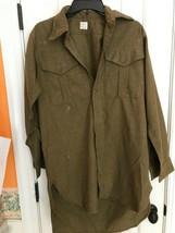 Vintage Northern Ireland Wool Army Shirt 1954 Size 4 - $65.41