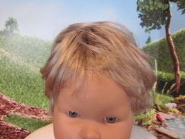 "Vintage blonde synthetic doll wig 14""  circumference GC - $9.90"
