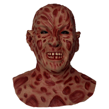 Freddy Krueger Mask Realistic Adult Party Costume Horror Mask Deluxe Sca... - $57.26 CAD
