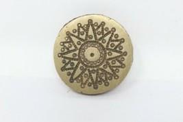 Old Brass Sun Design Black Tantra Engraved Pendant Making Dye Mold Seal ... - $65.45