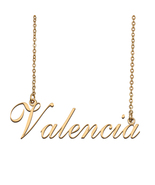 Valencia Custom Name Necklace Personalized for Mother's Day Christmas Gift - $15.99+