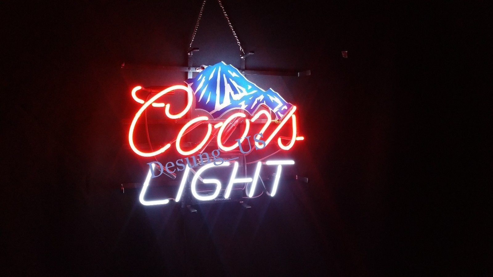 "New Coors Light Beer Mountain Neon Light Sign 24""x20"" Ship From USA"
