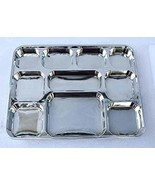 Silver Thali Plates - Plastic Disposable 10 Compartments Trays - 100 Pac... - $138.59
