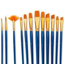 12 Art Drawing Brush Pen Watercolor Gouache Oil Painting Brush Nylon Hai... - $14.32+