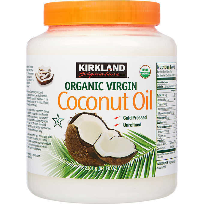 Kirkland Organic Virgin Coconut Oil Unrefined Cold Pressed Chemical 84oz - $29.20