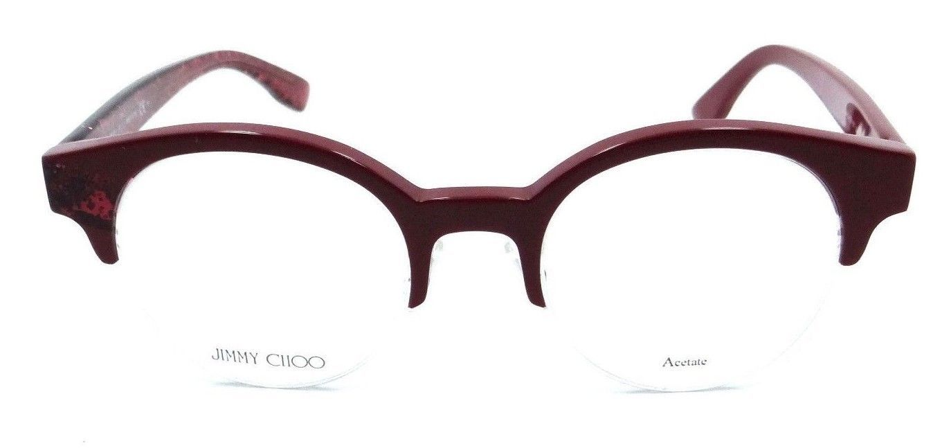 dbb03df8dd Jimmy Choo Rx Eyeglasses Frames JC 151 QA1 47-20-140 Pink Red Glitter