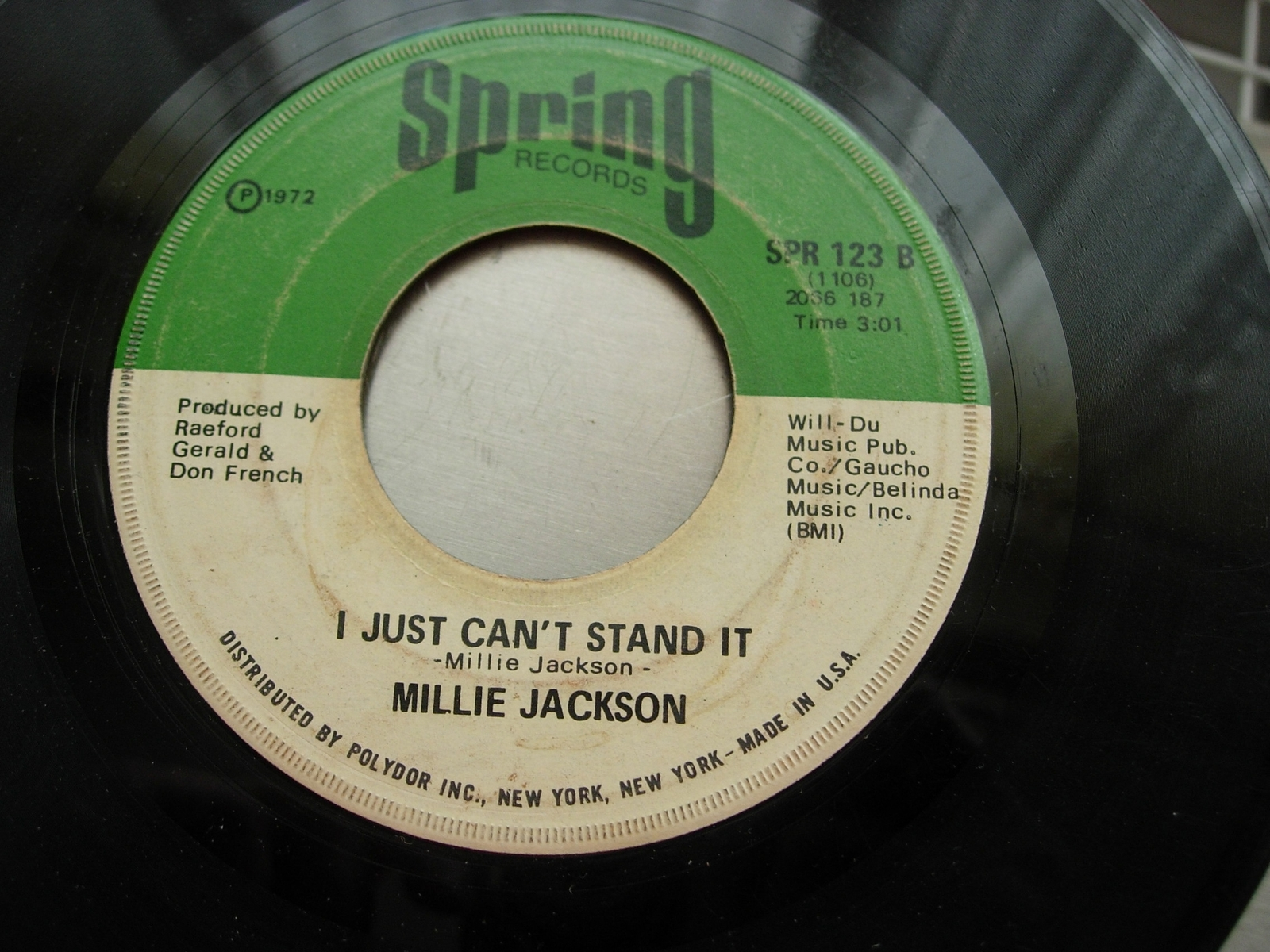 Millie Jackson - Ask What You Want / I Just Can't Stand It - Spring SPR 123