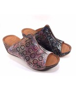 Bonavi 313 Catheryn Leather Wedge Comfort Slip On Sandals Choose Sz/Color - $125.10