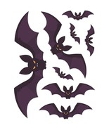DIY Halloween Bat Wall Stickers Festive Halloween Party Sticker Mural PV... - €3,52 EUR