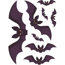 DIY Halloween Bat Wall Stickers Festive Halloween Party Sticker Mural PV... - $74,60 MXN