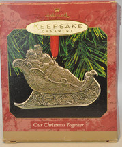 Hallmark - Our Christmas Together - Sleigh Ride - Medial 1997 Keepsake Ornament - $6.71