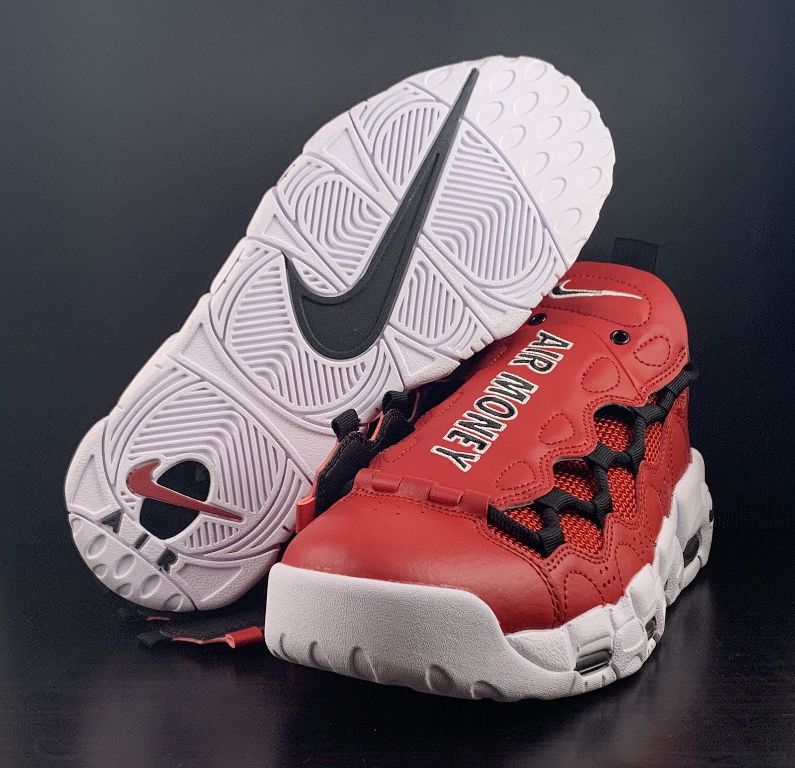 new concept c3932 a5d3b Nike Air More Money Uptempo Gym Red White and 50 similar items