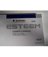 2000 Suzuki Esteem Owners Manual Parts Service - $44.99