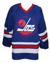 Any Name Number Winnipeg Jets Wha Hockey Jersey Blue Hull Any Size image 4