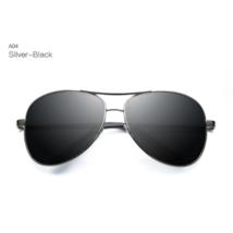 Occhiali da Sole Polarizzati da Uomo Aviator Pilota Vintage Sunglasses Argento - $29.30