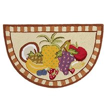 Nourison Assorted Fruit Hand-Hooked Accent Area Rug Slice - $37.67