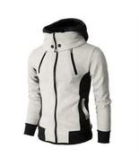 Men's High-Necked Heavyweight Sherpa Lined Fleece Hoodie Hooded Jacket Z... - $32.13