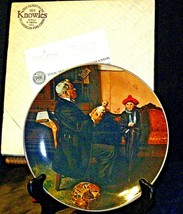 """1977 """"The Doctor and the Doll"""" Norman Rockwell Plate with Box ( Royalwood China) image 2"""