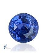 5.04CT Natural Blue Sapphire   Unheated Blue Sapphire   Round Blue Sapphire   Ce - $12,500.00