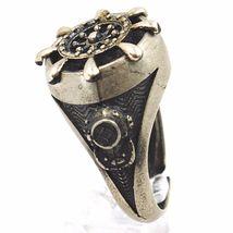 925 Silber Ring, Brüniert und Matt, Ruder, Seil Nautica, Taucher image 3