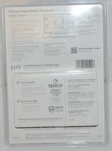 LUX TX500U Programmable Thermostat Fully Featured For Comfort White image 3