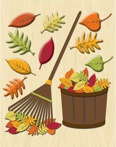 Life's Little Occasions Raking the Leaves Sticker Medley