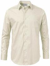 Men's Solid Long Sleeve Formal Button Up Standard Barrel Cuff Dress Shirt image 9
