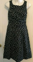 American Living dress size 2 Black/ white polka dot,  - $14.84